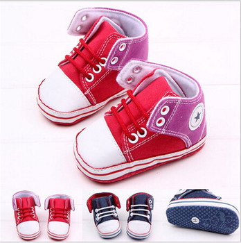Canvas Baby Shoes First Walkers Baby Soft Bottom Prewalker Boots Kids Children Shoes Sneakers Sapatos 35233