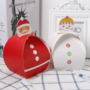 New DecorationChristmas Eve Paper Xmas Cake Candy Apple Box Wedding Favours Party Gift&Candy Packing Bags 869
