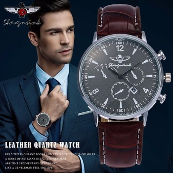 SHANGMEIMK Men Watch Luxury Brand Fashion Calendar Clock Leather Strap Quartz Male Wrist Watches Relogio Masculino Hot Selling 2809