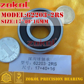 ZOKOL 62203RS rulman 62203 2RS 180503 62203-2RS Derin Groove rulman 17*40*16mm 9761